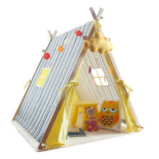 Children Kids Canvas Teepee Play Tent Stand Playhouse Indoor Outdoor