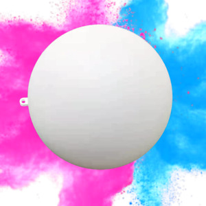 Color Blaze Gender Reveal Ball - 14cm White Ball with Pink and Blue Holi Powder