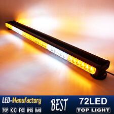 "35"" 72 LED Amber White Y Emergency Warn Hazard Double Side Strobe Light Bar 216W"