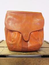 NORDSTROM Vintage 1970s British Tan Italian Leather Bucket Satchel Bag Purse