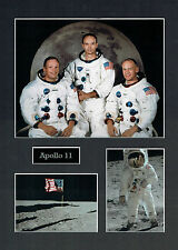 Apollo 11 16x12 Mounted Crew Photo Astronaut Space Montage