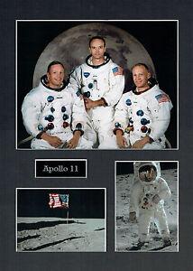 Apollo 11 16x12 Mounted Crew Photo Astronaut Space Montage