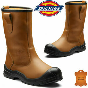 Mens Dickies Dixon Rigger Safety Boots Steel Toe Cap Slip On New Work Boot Shoes