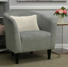 Microfiber Comfortable Deep Seat Tub Accent Chair Versatile Easy Cleaning Gray
