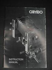 Cambo Genuine Camera Instruction Manual