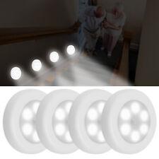 6-LED Motion Sensor Closet Lamp Stairs Wall Cabinet Night Light Wireless Battery