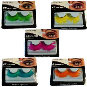 Eyelashes Feather Jumbo Reusable Fake False Eye Lashes Drag Queen