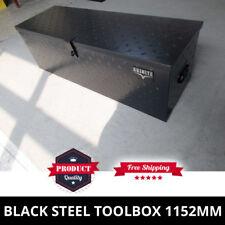 Black Steel Toolbox 1152mm Heavy Duty Trademans Ute Tool Box