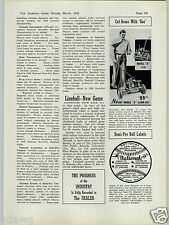 1938 PAPER AD Evenrude New Model S D Lawnboy Power Lawn Mower $110.00