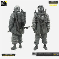 1/35 Biochemical Soldier Resin Kits Unpainted Figure Model YUFAN