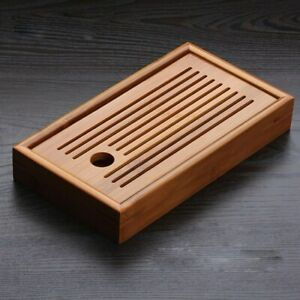Tea Tray Chinese Kung Fu Bamboo Tea Board Tea Tools for Cup Teapot Crafts Tray