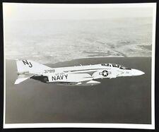 "Vintage Navy VF-121 Fighter Jet Photo ""Top Gun"". NJ 3789 In Flight. c.1960's"