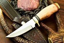 Cutlery Salvation Custom Handmade D2 Steel Blade Hunting Knife | Olive Wood