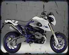Bmw Hp2 Megamoto 09 1 A4 Metal Sign Motorbike Vintage Aged