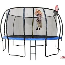10ft Round Trampoline with Ladder & Basketball Hoop RRP $950