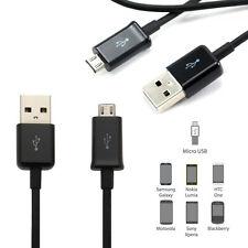 2m Black Micro USB Charger Data Cable Lead Fits Sony Xperia X XA Z5 Z3 Z2 Z1 Z