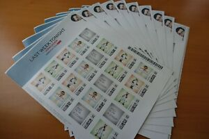 Last Week Tonight John Oliver One Sheet of 20 Stamps Limited Edition HBO
