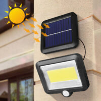 100 COB LED Solar Luz de Pared Impermeable Sensor de Movimiento Lámpara Exterior
