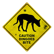 DINGO WARNING AUSTRALIAN ROAD SIGN DINGO SOUVENIR WARNING TIN SIGN