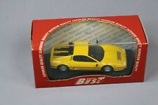 ZC1072 Best Model 9265 Voiture Miniature 1/43 Ferrari 512 BB 1976 Yellow Jaune