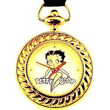 Betty Boop Fossil Valdawn NIB Necklace & Brown Leather Unworn KeyRing Watch $99