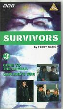 BBC SURVIVORS BY TERRY NATION NO.3 GONE TO THE ANGELS AND GARLANDS WAR 1993 VHS