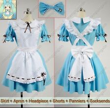 VOCALOID 2 HATSUME MIKU Alice In Musicland Cosplay Costume