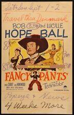 "Original 14"" x 22"" Window Card Bob Hope FANCY PANTS Lucille Ball"