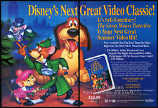 THE GREAT MOUSE DETECTIVE__Original 1992 Trade print AD video promo__Walt Disney