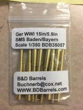 "1/350 B&D Brass Barrels SMS Baden/Bayern Super Set German WWI 15"" & 5.9"