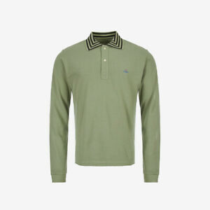 Vivienne Westwood Orb Logo Long Sleeve Polo - Green - WAS £165, NOW £110!