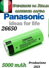 Batteria 26650 PANASONIC Ricaricabile a Litio Batterie 5000 mAh 3.7v Pila