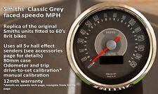 Smiths branded grey-face 150mph digital classic speedometer, British Gauge