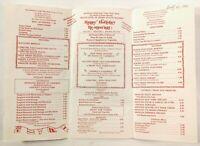 1983 Vintage Menu HAPPY HOLLIDAY RESTAURANT Westerly Rhode Island