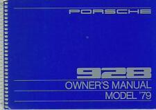 PORSCHE 928 Driver´s Manual 1979 handbook Owner´s Manual BA
