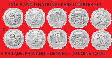 2016 America the Beautiful Quarter P & D 10 Coin Set UNC