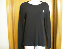 "Women's Ralph Lauren Black Pullover Sz Large-Med. 34"" Bust  Like New/NICE"