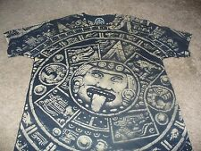 Mayan Calander Mens DOM Mexico Black T-Shirt  Size Small S