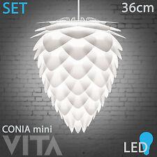 Vita Conia mini LED Pendelleuchte weiß. Hängeset Hängeleuchte Leuchte Zapfen