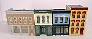 FOUR SMALL DOWNTOWN BUILDINGS-HO, HOn3 SCALE