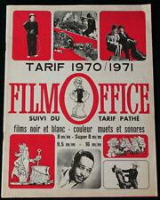 *** EXTRAIT DU CATALOGUE FILM OFFICE 1970/71  DES FILMS COULEURS ET NB ***