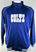 Indianapolis Colts NFL Majestic Men's Blue Full Zip Track Jacket