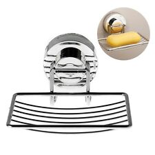 Wall Suction Cup Bathroom Bath Shower Stainless Steel Soap Dishes Holder Basket