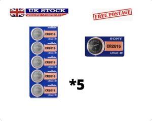 5pcs SONY Original Cr2016 Button Cell Batteries 3V Coin Batteries