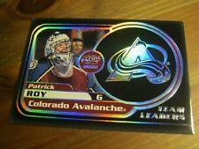 1999 00 Pacific Team Leaders #  8 Patrick Roy - Colorado Avalanche            XX