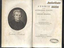 STORIA DELLA LETTERATURA ITALIANA Girolamo Tiraboschi 1822 26 16 volumi completa