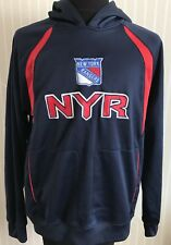 NEW YORK RANGERS MEN'S SIZE S REEBOK HOODIE BLUE SWEATSHIRT NHL JERSEY