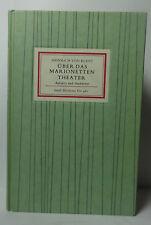 Insel- Bücherei Nr. 481 Über das Marionetten - Theater 1980