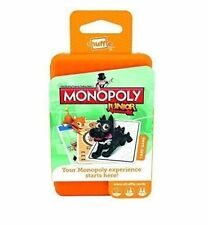 Shuffle Monopoly Junior Card Game by Hasbro