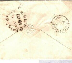 GB Cover Devon Exeter Canada NEW BRUNSWICK * PO SAINT STEPH_ N* CDS 1869 SF12